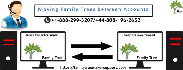 Moving Family Trees between Accounts